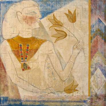 Thumbnail image of David Easton, 'Lotus and Figure' - Project 2006 - New Art inspired by the Ancient Egyptian Collection