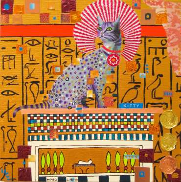 Thumbnail image of Mikki Longley, 'O Wondrous Cat' - Project 2006 - New Art inspired by the Ancient Egyptian Collection