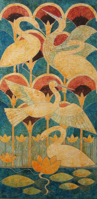 Thumbnail image of Shirley Easton, 'Rising Birds' - Project 2006 - New Art inspired by the Ancient Egyptian Collection