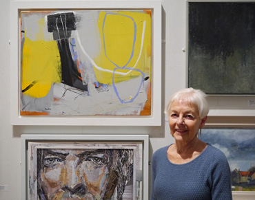 Thumbnail image of Catherine Headley, Henton Ellis Prize winner, with 'Carn and Gorse' - Annual Exhibition 2016 - Prize Winners