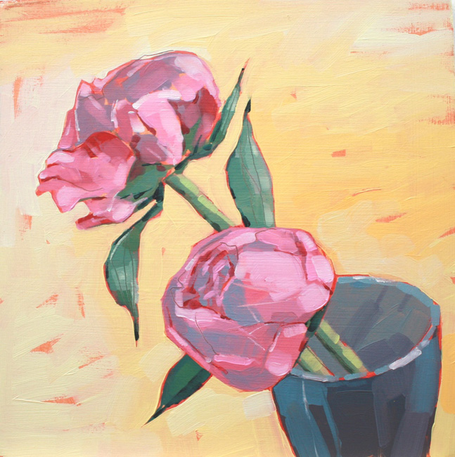 Thumbnail image of Jane French, 'Pink Peonies', [framed] - Stars - Art Auction Evening