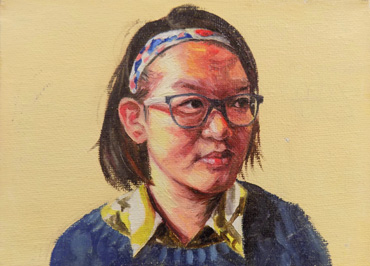 Thumbnail image of Yuanqing Zhang, Leicester High School for Girls, 'Self Portrait', oil on canvas, winner of the Student Painting Prize - Little Selves - Student Prizes