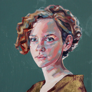 Thumbnail image of Jane French, LSA member - The Gold Dress - Little Selves - Browse Artworks A-Z