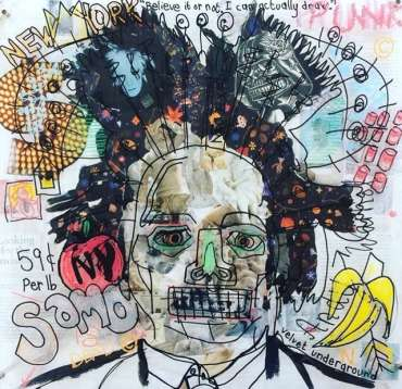 Thumbnail image of Danielle Vaughan, 'Basking in Basquiat' - A sample of artworks in LSA Annual Exhibition 2019
