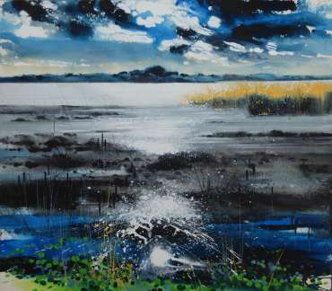 Thumbnail image of Philip Dawson, 'Lax Hill, Rutland Water' - A sample of artworks in LSA Annual Exhibition 2019