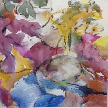 Thumbnail image of Ruth Cockayne, 'Summer Hat and Flowers' - A sample of artworks in LSA Annual Exhibition 2019