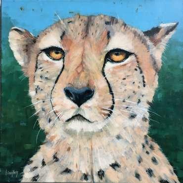 Thumbnail image of Frank Bingley, 'Cheetah' - Market Harborough Art Club Art Exhibition