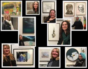 Thumbnail image of LSA members with their work in The Open Exhibition - The Open Exhibition