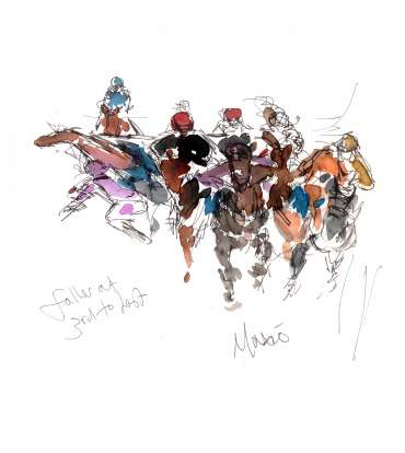Thumbnail image of 15: Maxine Dodd, 'Faller at Third to Last' - LSA Annual Exhibition 2020 | Artwork