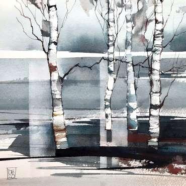 Thumbnail image of 03: Deborah Bird, 'Winter Birches 2' - LSA Annual Exhibition 2020 | Artwork