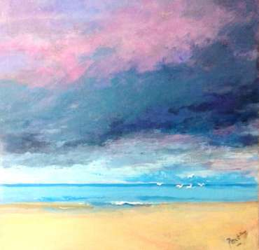 Thumbnail image of 51: Irene Peutrill, 'A Light on the Horizon' - LSA Annual Exhibition 2020 | Artwork
