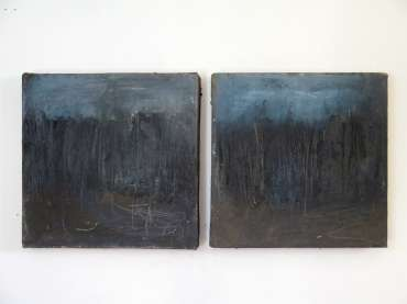 Thumbnail image of 20: Jacqui Gallon, 'Woodland Abstruction' - diptych - LSA Annual Exhibition 2020 | Artwork