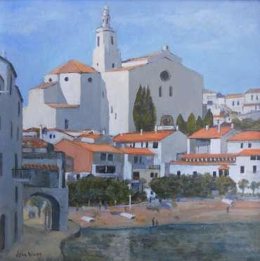 Thumbnail image of 46: John Nixon, 'Waterside View, Cadaques, Spain' - LSA Annual Exhibition 2020 | Artwork
