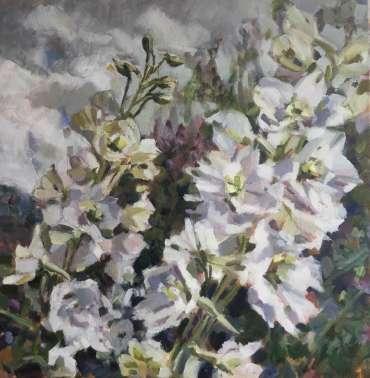 Thumbnail image of 04: Lesley Brooks, 'Delphiniums' - LSA Annual Exhibition 2020 | Artwork
