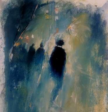 Thumbnail image of 58: Linda Sharman, 'Figures through the Light, Leicester' - LSA Annual Exhibition 2020 | Artwork
