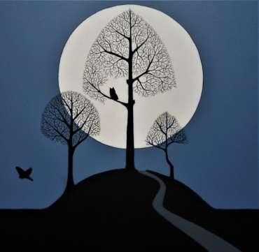 Thumbnail image of 35: Stuart Hill, 'Over Land, Under Moon' - LSA Annual Exhibition 2020 | Artwork