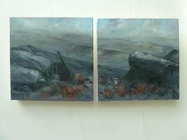Thumbnail image of 26/27: Suzanne Harry, 'Towards Carl Walk, Peak District' - Diptygh - LSA Annual Exhibition 2020 | Artwork