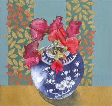 Thumbnail image of 05: Vivienne Cawson, 'Last of the Sweet Peas', - LSA Annual Exhibition 2020 | Artwork