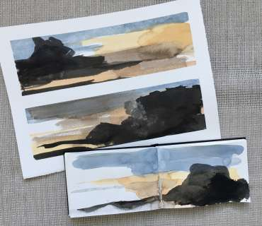 Thumbnail image of David Clarke,'Mood Scape' series - work in progress (2) - Inspired | April