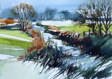 Thumbnail image of Deborah Bird, 'Down by the River, Frisby-on-the-Wreake' - Inspired | April