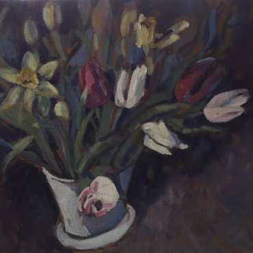 Thumbnail image of Lesley Brooks, 'Flowers for a Friend' - Inspired | April