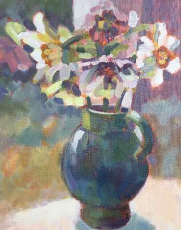 Thumbnail image of Lesley Brooks, 'Narcissi and Hellebores' - Inspired | April