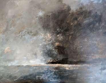 Thumbnail image of Linda Sharman, 'Scrawly Clouds Moving, Norfolk' - Inspired | April