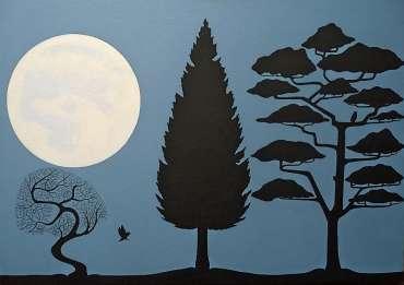 Thumbnail image of Stuart Hill, 'Tree Silhouette' - Inspired | April