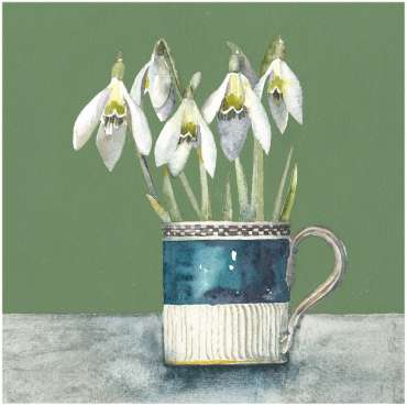 Thumbnail image of Vivienne Cawson, 'Snowdrops in Spode' - Inspired | April