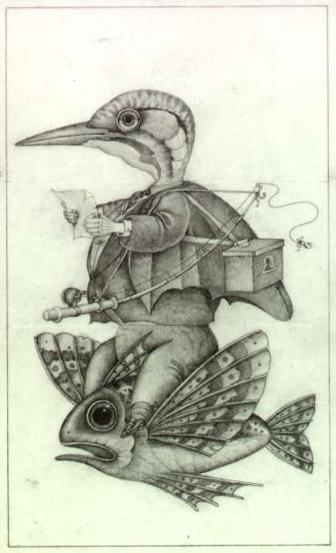 Thumbnail image of Wayne Anderson, 'Flying Fish' -Pre-colour rough for a book idea - Inspired | April