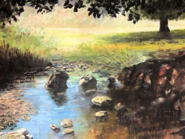 Thumbnail image of Jo Sheppard, 'Shadows on the River Lin' - work in progress - Inspired |  May