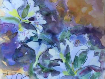 Thumbnail image of Lesley Brooks, 'Rhododendron study' - Inspired |  May