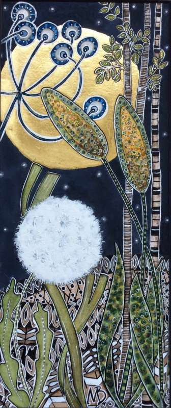 Thumbnail image of Maria Boyd, 'Golden Moon with Dandelion' - Inspired |  May