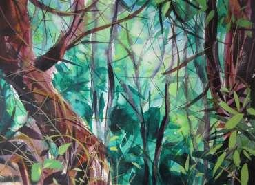 Thumbnail image of Peter Clayton, 'Coastal Pines - A Cool Glade' - Inspired |  May