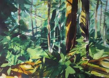 Thumbnail image of Peter Clayton, 'Coastal Pines - Amongst Tall Pines' - Inspired |  May