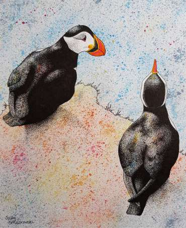 Thumbnail image of Sally Struszkowski, 'Puffins' - Inspired |  May