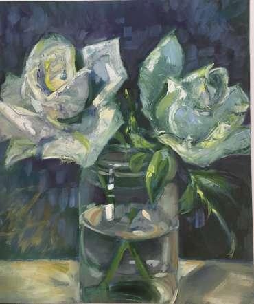 Thumbnail image of Judy Merriman, 'Two Roses' - Inspired   June