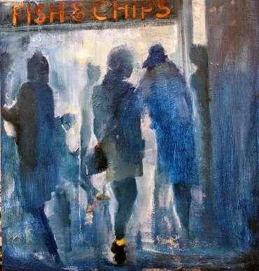 Thumbnail image of Linda Sharman, 'Friday night, Fish & Chips' - Inspired   June