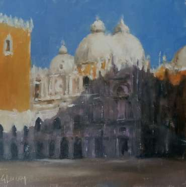 Thumbnail image of Graham Lacey, 'View of Venice' Oil on board.8x8 inches. Price: £160 (unframed) - Inspired | July