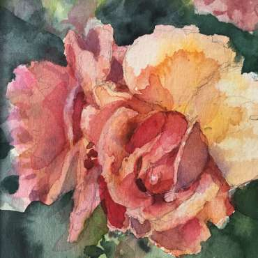 Thumbnail image of Hazel Crabtree, 'Rose from my garden' - Inspired | July