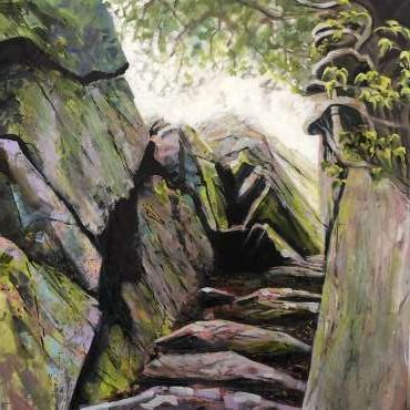 Thumbnail image of Jo Sheppard, 'Cademan Steps' (work in progress) - Inspired | July