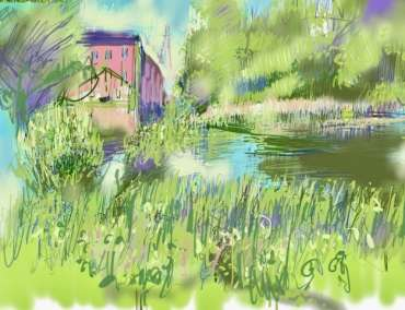 Thumbnail image of Tony O'Dwyer, ' Canal at Aylestone' - Inspired | July