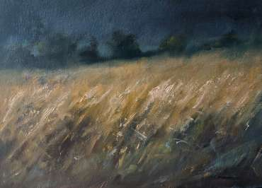 Thumbnail image of Linda Sharman, 'Rain Clouds move across Fields of Golden Corn' - Inspired | August