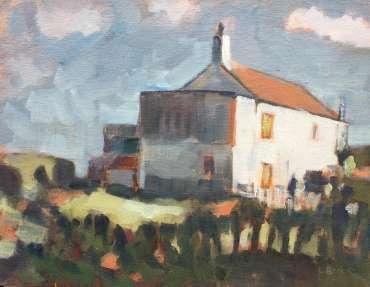 Thumbnail image of Lesley Brooks, 'Cliff Top House, Cromer, Spring' - Inspired | November 2020