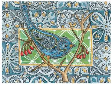 Thumbnail image of 09 | Maria Boyd | Blue Tit on Blue Tiles - LSA Annual Exhibition 2021 | Catalogue A - C