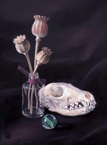 Thumbnail image of 77 | Pete Underhill ARBSA | Fox Glass Poppy - LSA Annual Exhibition 2021 | Catalogue S - Z
