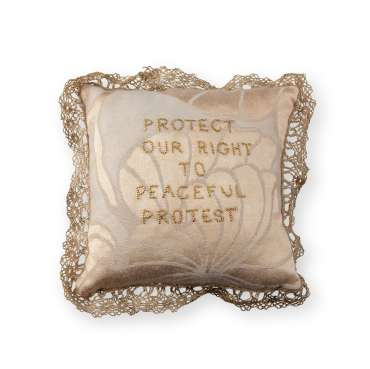 Thumbnail image of 64 | Ruth Singer | Protest Pincushion - LSA Annual Exhibition 2021 | Catalogue S - Z