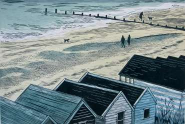 Thumbnail image of 42 | Sally Hill | Beach Huts and Breakwater - LSA Annual Exhibition 2021 | Catalogue D - L