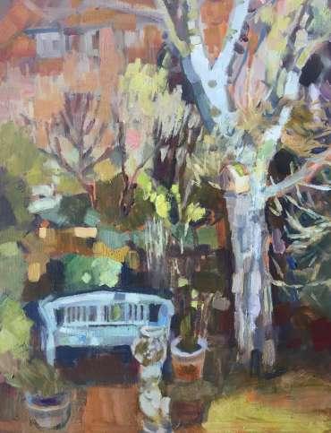Thumbnail image of Lesley Brooks, Garden seat - spring - Reawakening