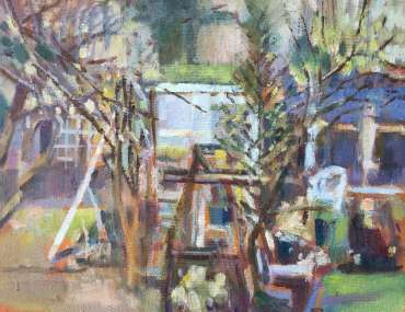 Thumbnail image of Lesley Brooks, View from my window - early spring - Reawakening